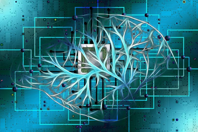 Electronic Brain Illustration