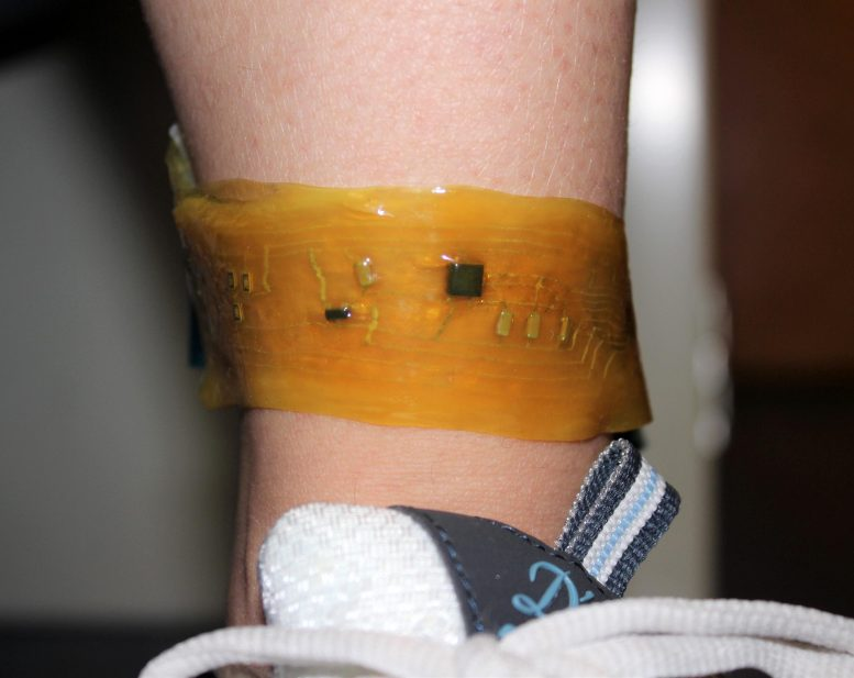 Electronic Skin Device Ankle