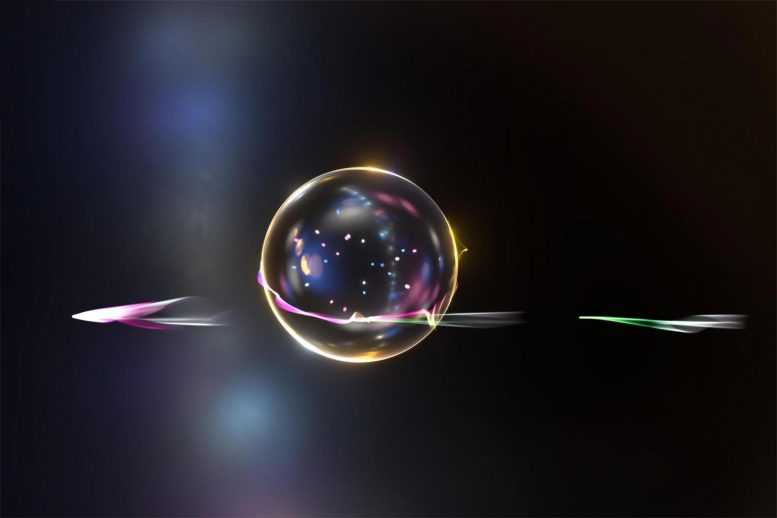 Electrons, Light and a Transparent Silica Sphere