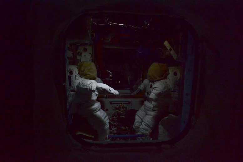 Empty Space Suits ISS