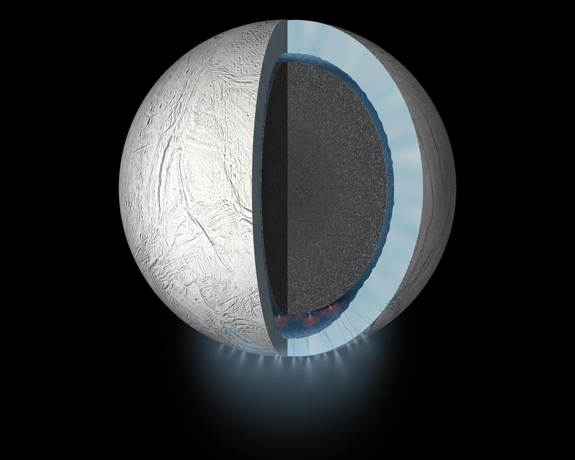 Inner Complexity of Saturn's Moon Enceladus Revealed – Hints at Habitable Conditions - SciTechDaily