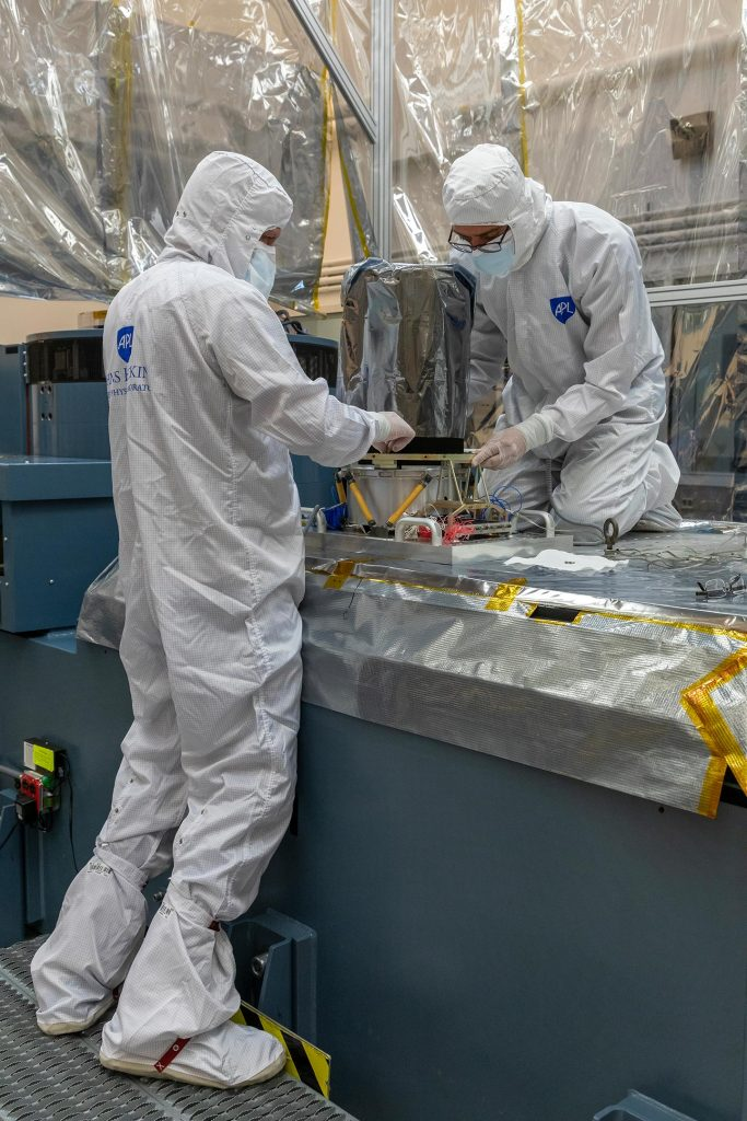 Engineers Prepare Lucy LOng Range Reconnaissance Imager