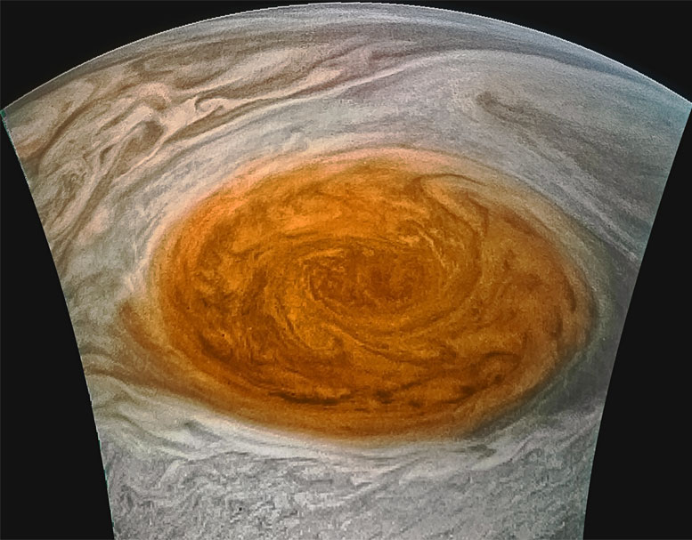 Enhanced-Color Image of Jupiter's Great Red Spot