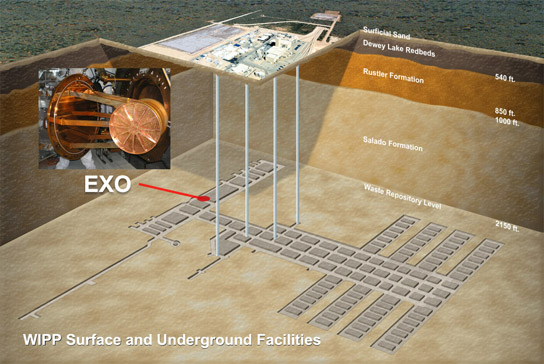 Enriched Xenon Observatory 200 (EXO-200) is a neutrino experiment housed 2,150 feet below ground
