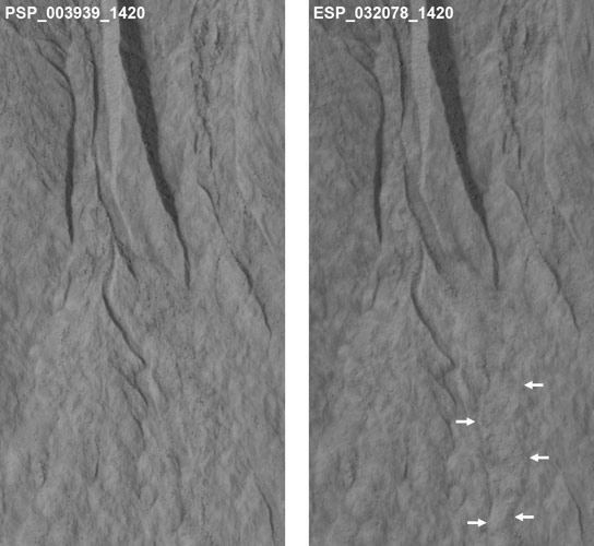 Evidence of Dry Ice Gullies on Mars