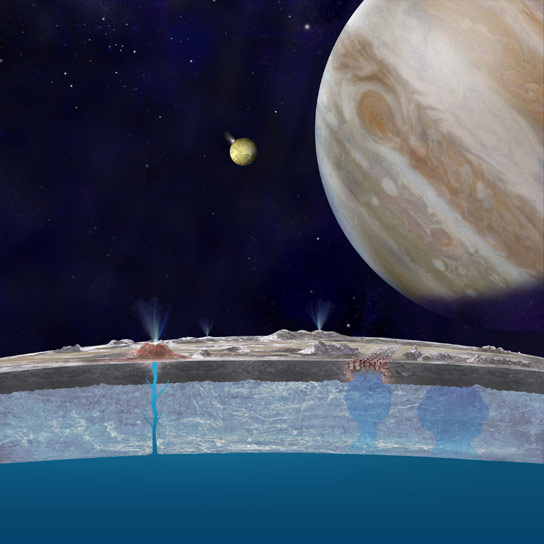 Evidence that Salty Water Beneath the Surface of Europa Actually Makes its Way to the Surface