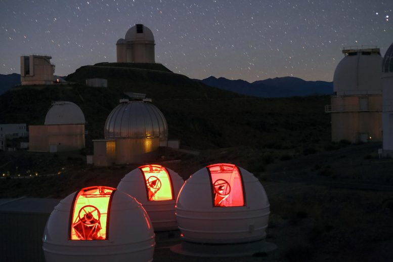 ExTrA Planet Hunting Telescopes Make First Observations