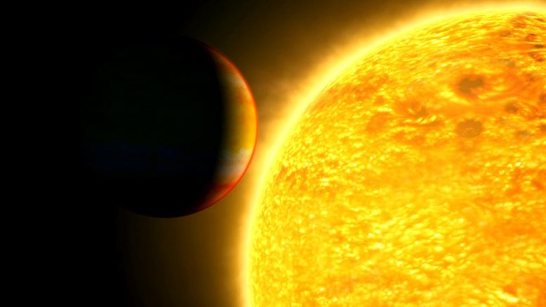 Exoplanet About to Transit Star
