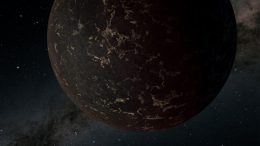 Exoplanet LHS 3844b Illustration