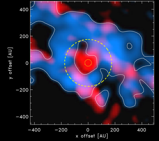Explosive Growth of Newly Formed Star in the Milky Way