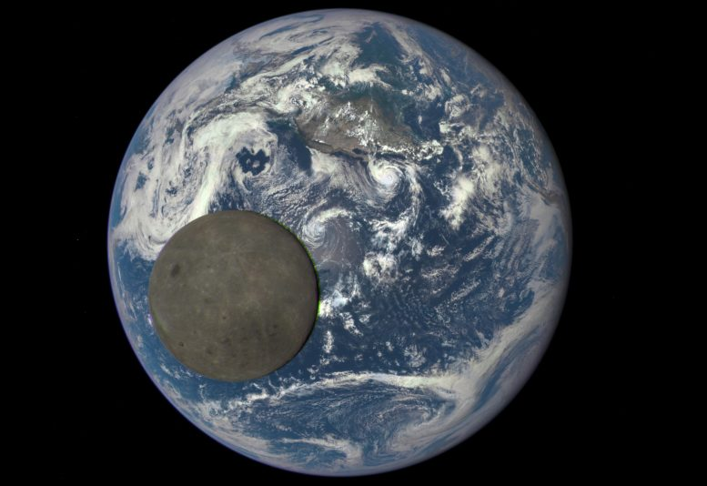 Far Side of Moon Illuminated by Sun