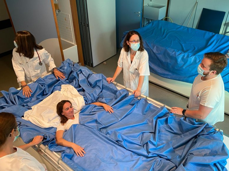 Female Volunteer in Dry Immersion Study