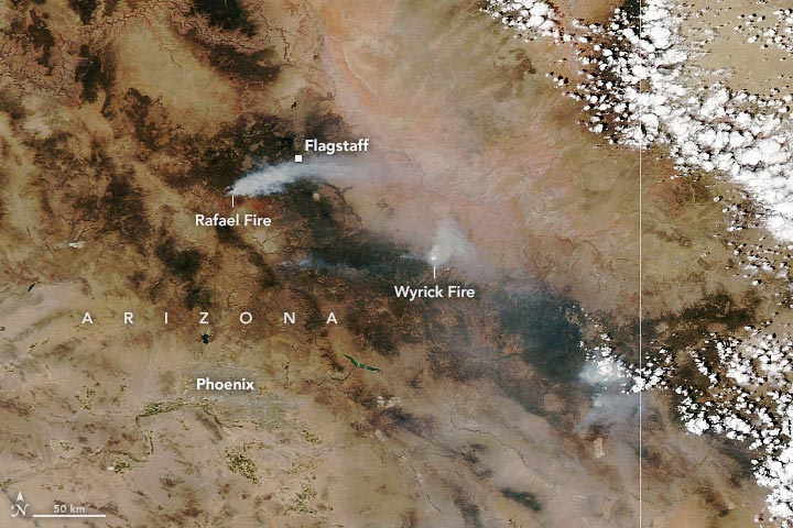 Fires Rage in Arizona 2021 Annotated