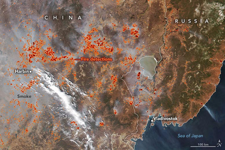 Fires in the Far East Annotated