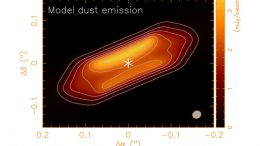 First Detection of Equatorial Dark Dust Lane in a Protostellar Disk at Submillimeter Wavelength
