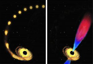 First Glimpse of Black Hole Eating Star