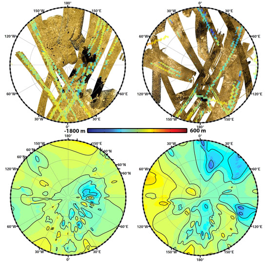 Scientists Use Cassini Data to Create First Global Topographic Map of Titan