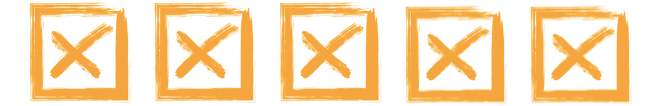 Five X Checkboxes