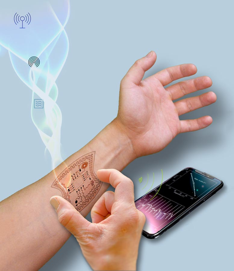 Flexible Self Powered Electronics