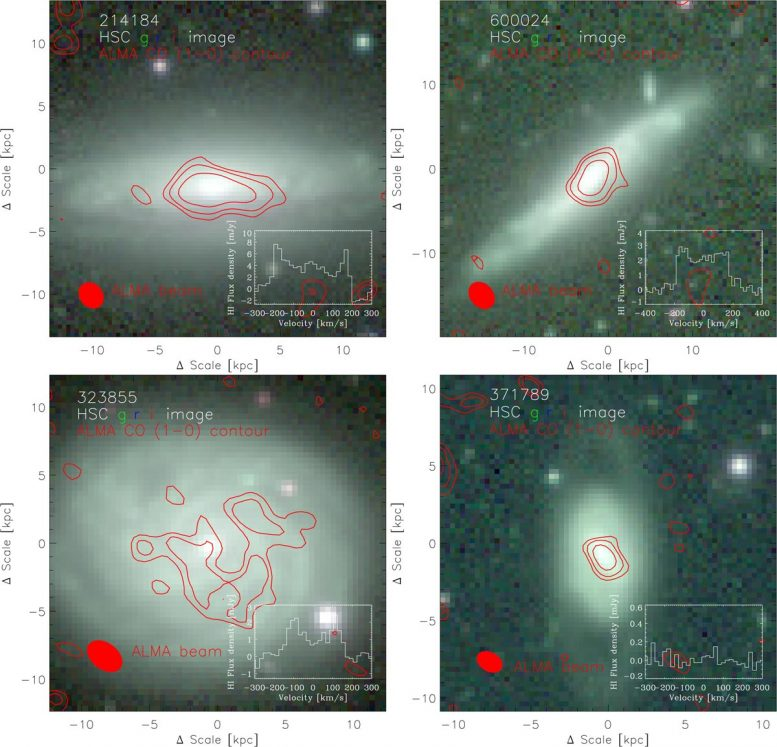 Four Galaxies FAST Observation