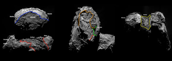 Four New Regions Have Been Identified on the Southern Hemisphere of Comet 67P