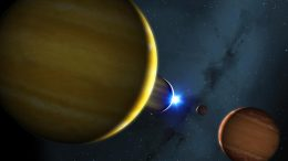 Four Planets HR 8799 System