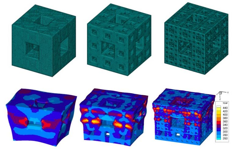 Fractal Structures Dissipate Energy From Shockwaves
