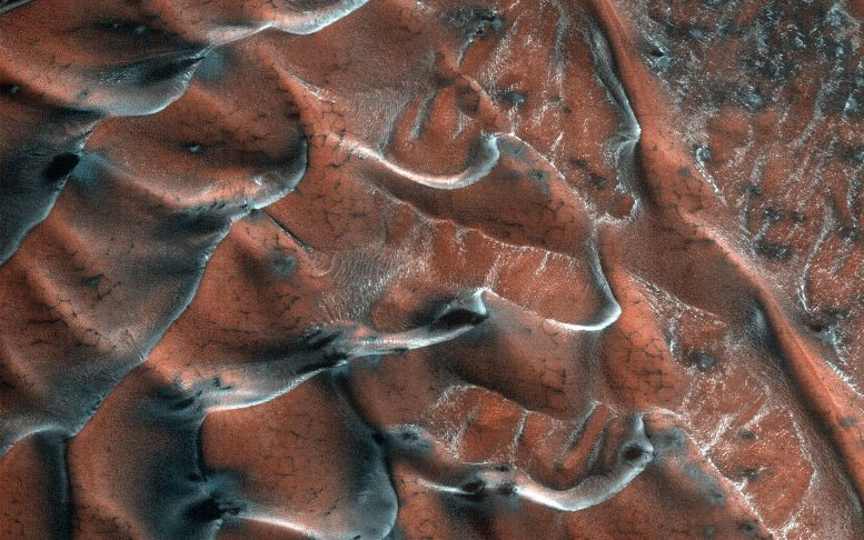Frosty Sand Dunes of Mars