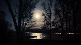 Full Moon in Tromsø, Norway