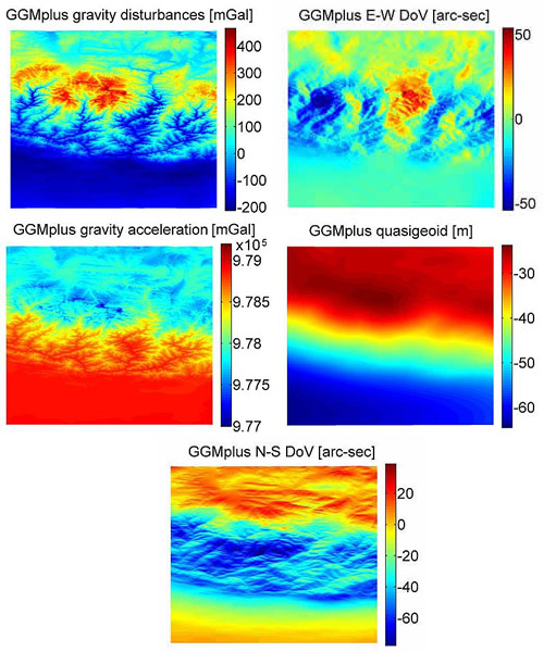 GGMplus 200m Resolution Maps of Earths Gravity Field