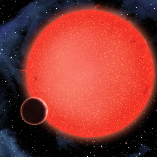 GJ1214b shown in this artist's conception