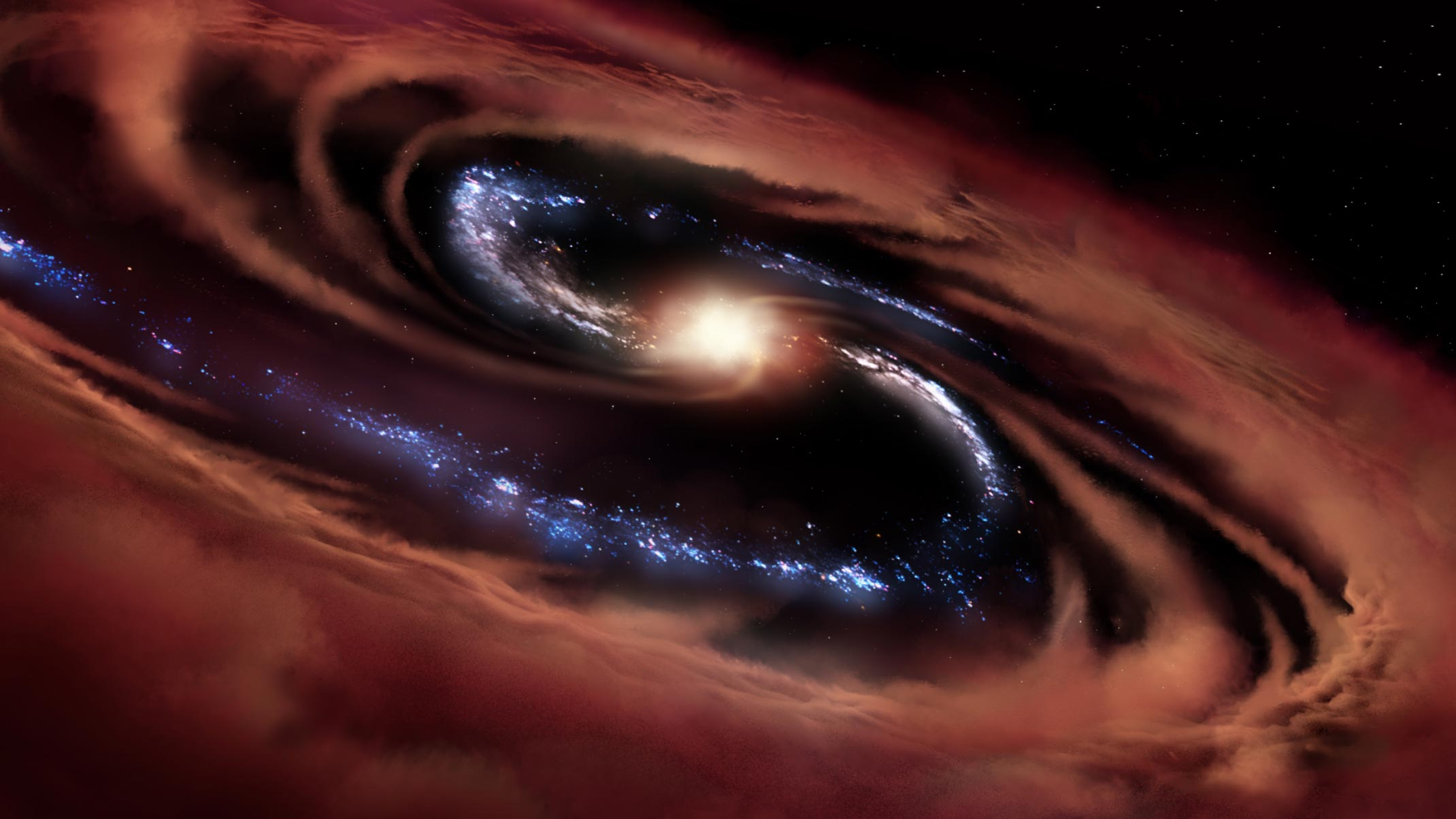 """Galaxy Survives Black Hole's Feast – """"Goes Against All the Current Scientific Predictions"""" - SciTechDaily"""