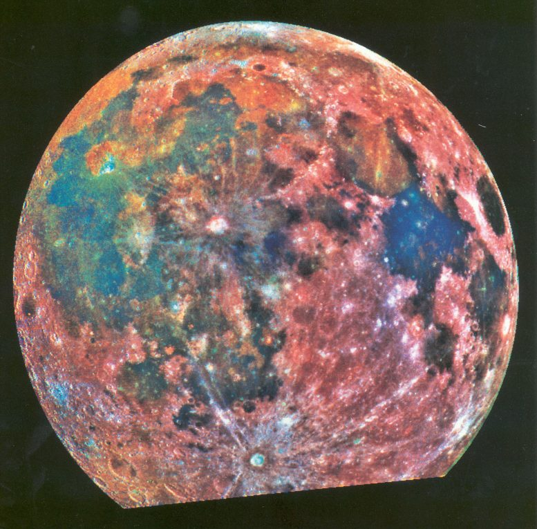 Galileo False-Color Image of the Moon