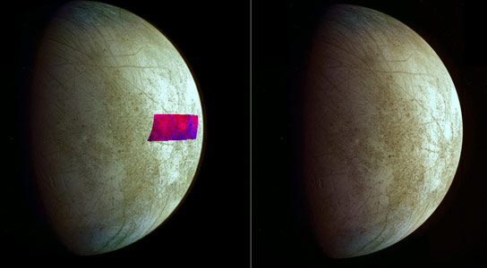 Galileo Mission Reveals Clay Like Minerals on Icy Crust of Europa