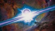 Gamma Ray Burst Artist's Illustration