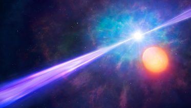 Gamma-Ray Burst With Orbiting Binary Star