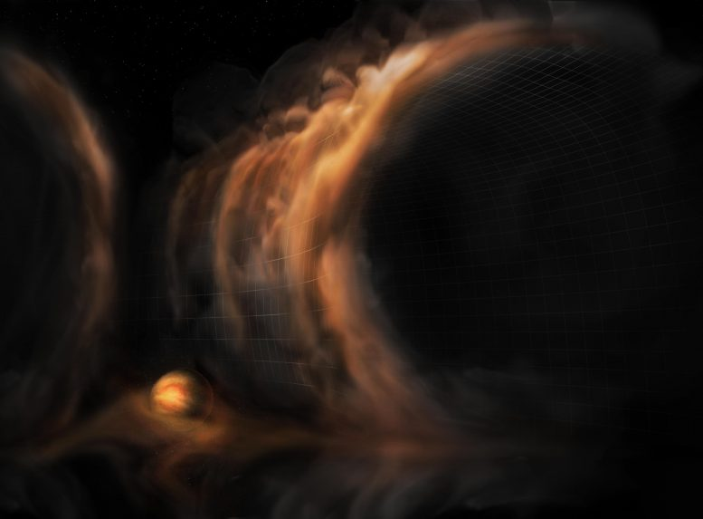 Gas Flow Protoplanetary Disk Gap