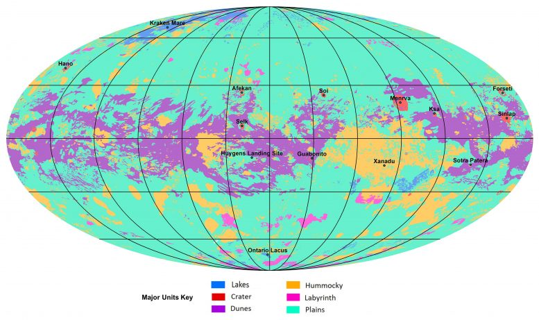 Geologic Map of Saturn's Largest Moon, Titan
