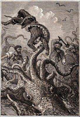 Giant Squid Captures Sailor