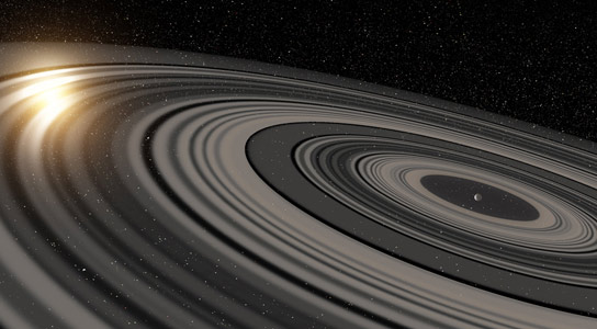 Gigantic Ring System Larger Than Saturn's