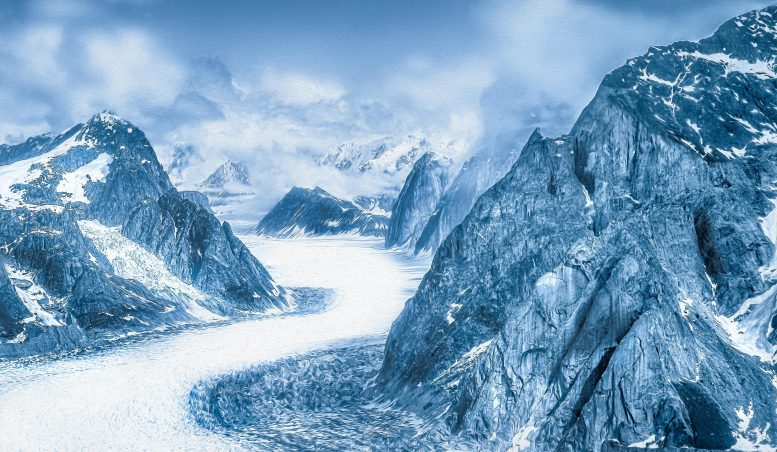 Ice snow of the glacier mountains