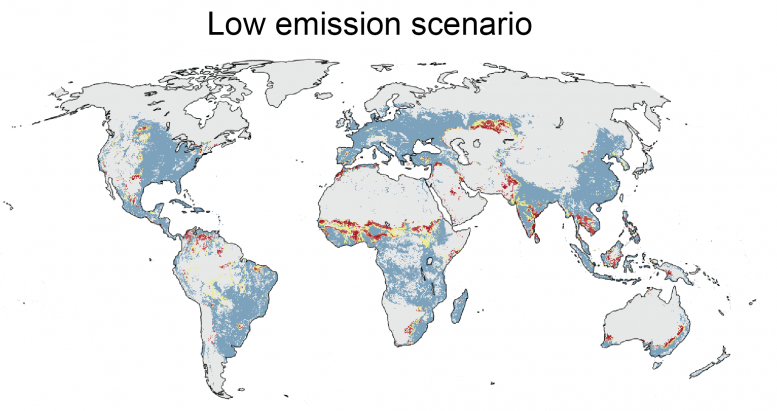 Global Food Production Low Emissions Scenario