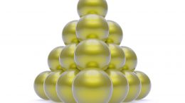 Gold Atoms Form Peculiar Pyramidal Shape