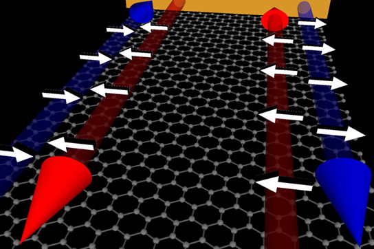Graphene Effectively Filters Electrons According to Their Spin