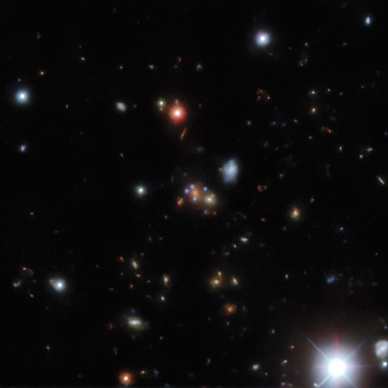 Gravitational Lens Found in the DESI Legacy Survey Data Example