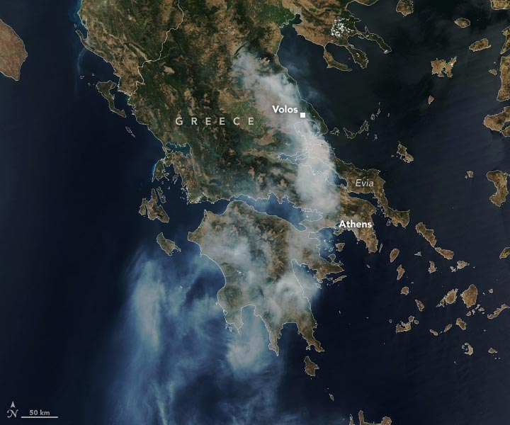 Greece Fire August 2021 Annotated