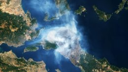 Greece Fire Natural Color August 2021