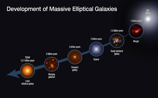 Growth of Massive Elliptical Galaxies
