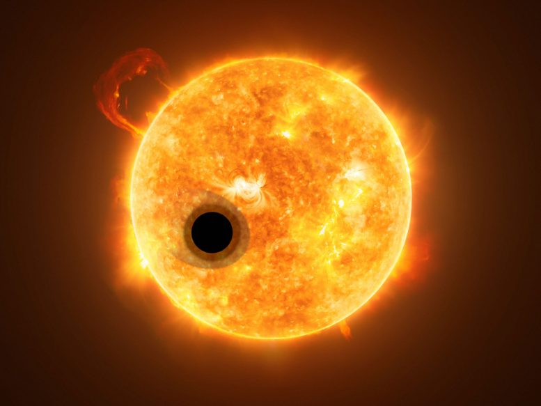 Helium in the Eroding Atmosphere of an Exoplanet