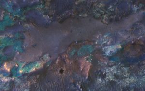 HiRISE Views Colorful Impact Ejecta from Hargraves Crater